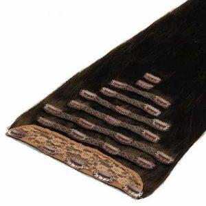 Deluxe Ekstenzije na Češljiće 50cm 200g 1C Moka smeđa-0