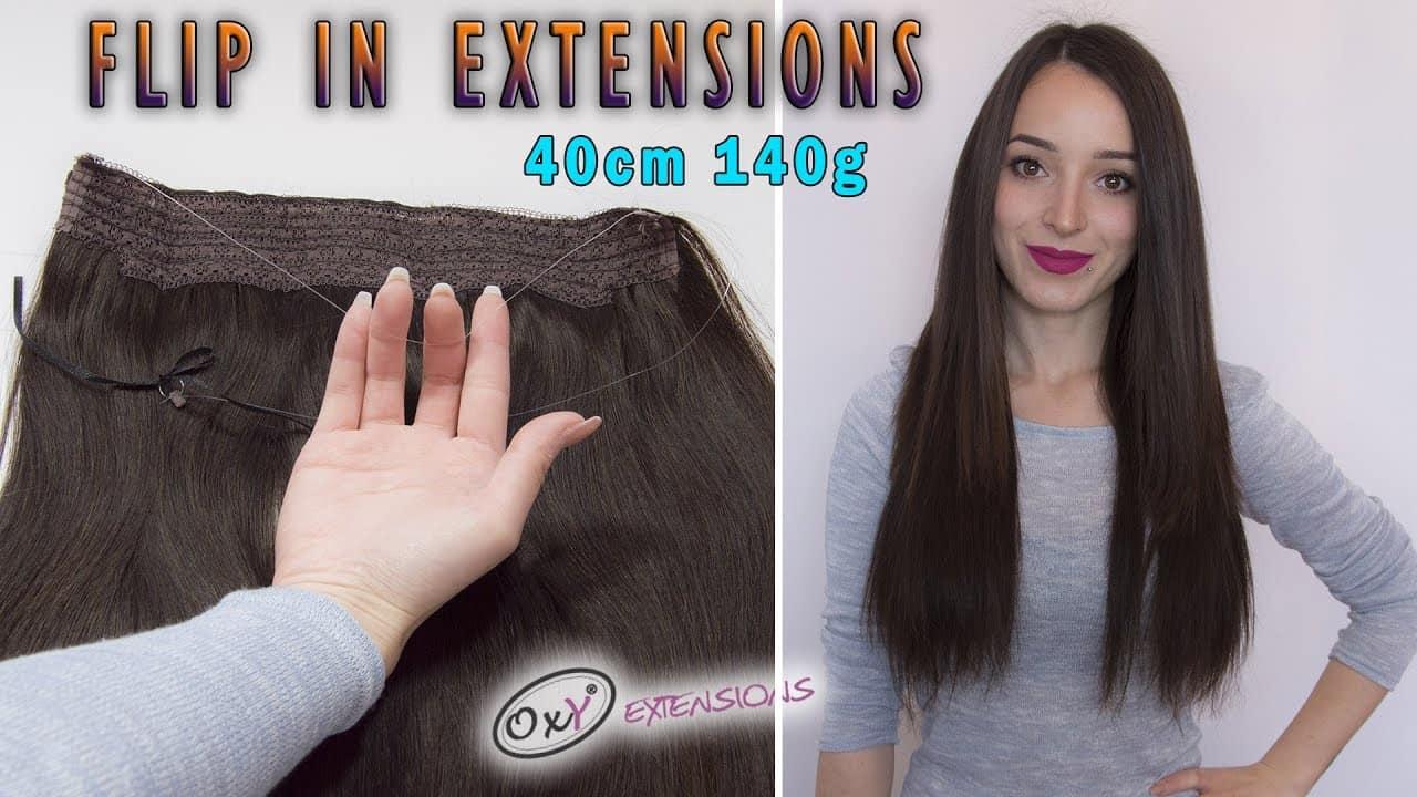 Premium flip in ekstenzije 40cm 140g